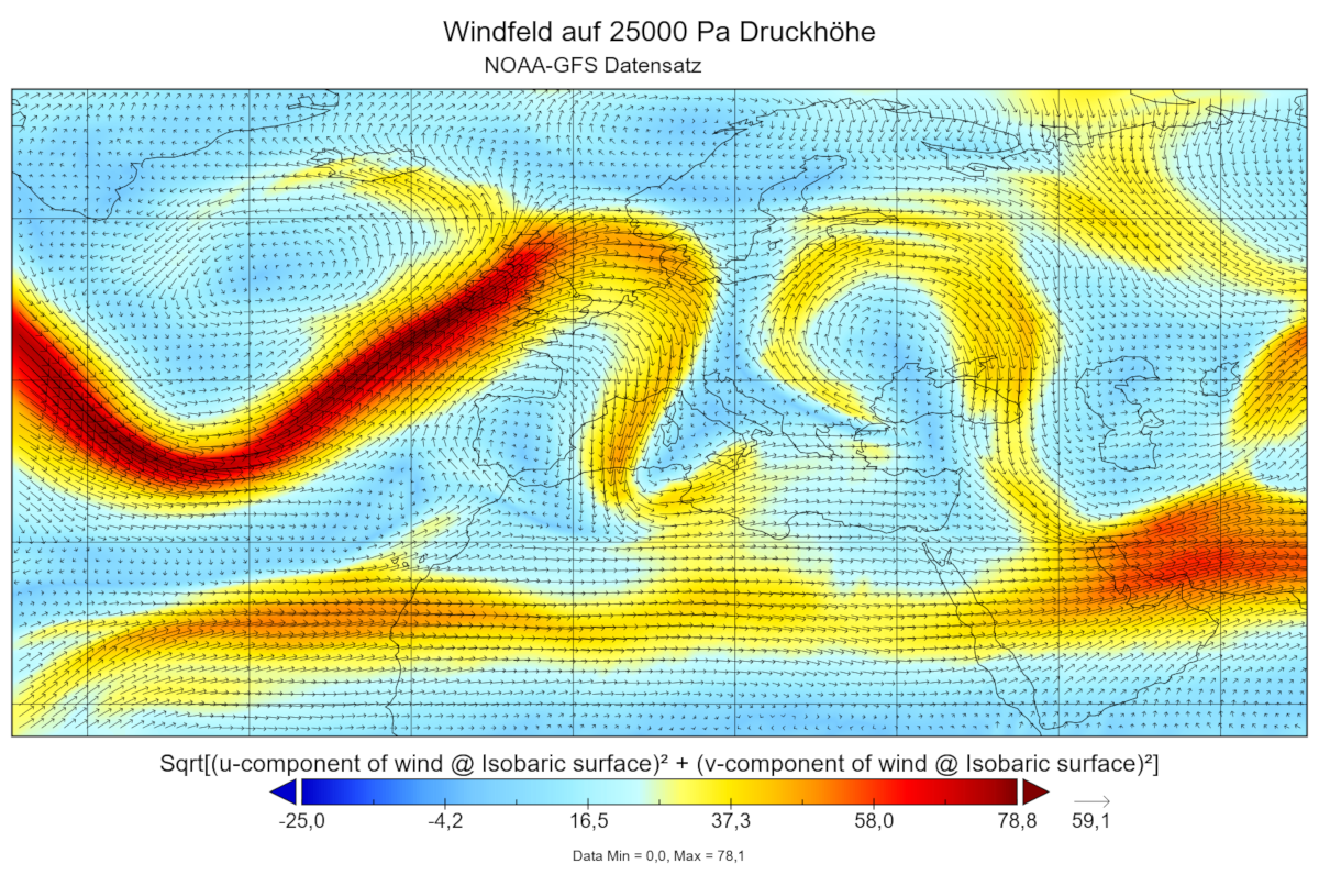 Exemplary Visualization of Wind (© GfL mbH)