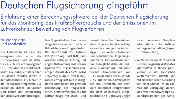 New calculation software introduced at DFS Deutsche Flugsicherung GmbH (German Air Traffic Control Service)