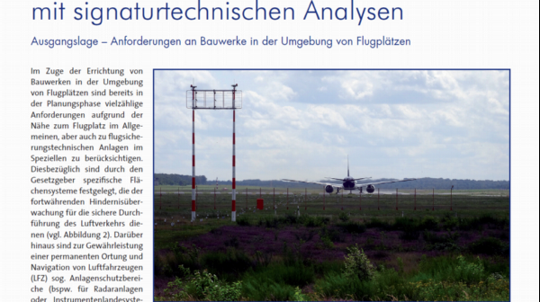 Risk assessment for buildings in the vicinity of airfields combined with signature analyses
